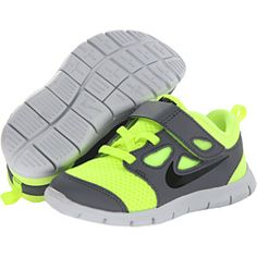 Nike kids free run 5 0 tdv infant toddler volt cool grey pure platinum black de9516dc0