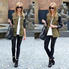 Chicwish Parka With Pu Leather Sleeves, Céline Mini Lugagge