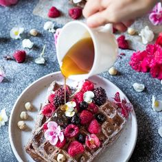 Low FODMAP and Gluten-Free Chocolate Waffles. Perfect indulging breakfast or brunch. Gluten Free Chocolate, Vegetarian Chocolate, Belgium Waffles, Lactose Free Milk, Gluten Free Waffles, Chocolate Waffles, Fodmap Recipes, Waffle Recipes, Low Fodmap