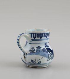 Garry Atkins | Small London delftware baluster mug decorated with a seated Chinaman circa 1690 | New York Ceramics & Glass Fair