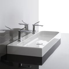 WS Bath Collections Unit Ceramic Rectangular Vessel Bathroom Sink with Overflow | Wayfair