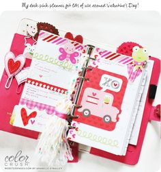 Webster's Pages Dark Pink Planner Anabelle O'Malley
