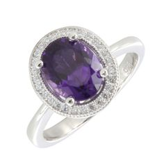 If you like bolder amethyst designs, our eye-catching Diamore Primo range could be just the thing, like this lovely amethyst oval ring.
