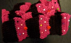 Large Pink Cupcake Scarf 72 by AMELSEN25 on Etsy, $12.00