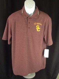 Men's Nike Dri Fit Polo Golf Shirt USC Trojans Size M Medium College NWT Nike #Nike #PoloRugby