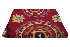 Hand-Embroidered Suzani Bed Cover on OneKingsLane.com.  North See Vintage