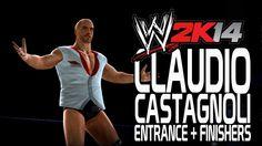 WWE 2K14 - Claudio Castagnoli Entrance + Finishers