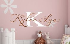 Baby Nursery Monogram Vinyl Wall Decal  by JustTheFrosting on Etsy, $19.00