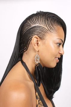 Braids - Cornrows www.naturallyhealthyhair.com ~African fashion, Ankara, kitenge, African women dresses, African prints, Braids, Nigerian wedding, Ghanaian fashion, African wedding ~DKK
