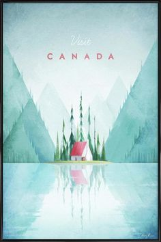 Vintage travel poster illustration of Canada by Henry Rivers of Travel Poster Co. Vintage travel poster illustration of Canada by Henry Rivers of Travel Poster Co. City Poster, A4 Poster, Kunst Poster, Poster Prints, Art Prints, Posters Decor, Posters Canada, Photo Vintage, Vintage Ski