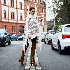 Get this look: http://lb.nu/look/7987918  More looks by Tamara Bellis: http://lb.nu/besstoma  Items in this look:  H&M Poncho   #chic #romantic #street