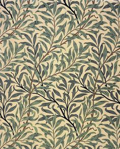 'Willow bough' wallpaper design by William morris, produced in 1887 __ posted on… William Morris Wallpaper, William Morris Art, Morris Wallpapers, Of Wallpaper, Designer Wallpaper, Pattern Wallpaper, Nature Wallpaper, Patterns In Nature, Textures Patterns