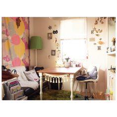 Chihiroさんの、花のある暮らし,ダイニングテーブル,インスタ⇨chiiiiiiiiro8,無印良品,ダイニング,Francfranc,クッション,ソファ,IKEA,部屋全体,のお部屋写真