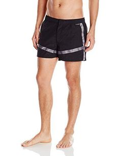 CIN2 Mens 2 Inch Paraharness Woven HARD Swim Trunk Black 26 -- Read more  at the image link.