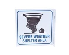 ZING Eco Safety L Sign, Severe Weather Shelter, 7Hx2.5Wx7D, Recycled Plastic