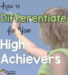 We all have students who struggle to access grade-level concepts, but how many of you put the same attention into differentiating for your stronger students? Here are some suggestions for how you can differentiate activities for your high achievers. Instructional Strategies, Differentiated Instruction, Teaching Strategies, Teaching Tips, Instructional Technology, Instructional Coaching, Comprehension Strategies, Gifted Education, Special Education