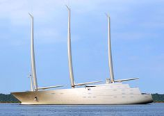 Sailing yacht A. Hoping this ugly boat can not come out of the Baltic Sea and sail to Mediterranean