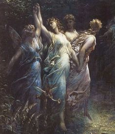 Gustave Dore - A Midsummer Night's Dream (detail)
