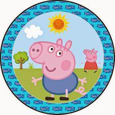 Fazendo a Propria Festa: KIT DE ARTES PERSONALIZADAS DIGITAIS TEMA GEORGE PIG Peppa E George, George Pig Party, Peppa Pig Printables, Oh My Fiesta, Party Food Themes, 3rd Birthday Parties, Pig Birthday, Topper, Food Tags