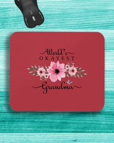 World's Okayest Grandma - Pink Flowers Watercolor - True Red #paramedic #firetruck #firedepartment mom humor, soccer mom, mom fashion, dried orange slices, yule decorations, scandinavian christmas Dried Orange Slices, Dried Oranges, Yule Decorations, True Red, Scandinavian Christmas, Family Shirts, Mom Humor, Mom Style, Fire Trucks