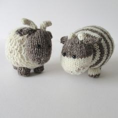 Ravelry: Bramble Goat and Chestnut Cow pattern by Amanda Berry