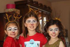 Reindeer face painting for Christmas card idea www.facebook.com/facepaintingbymarli