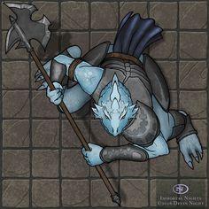 Dragonborn armor halberd token