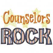 Counselors Rock Applique