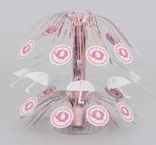 Pink Elephant Baby Shower Cascade Centerpiece. Beautiful Pink Elephant centerpiece that would be perfect for your baby shower!  Find it at http://www.ezpartyzone.com/pd-pink-elephant-baby-shower-cascade-centerpiece.cfm