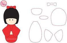 Resultado de imagen de kokeshi patchwork patrones