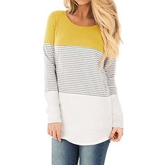 YunJey long sleeve t shirt women tops color block striped... https://www.amazon.com/dp/B076D32GS6/ref=cm_sw_r_pi_dp_U_x_-rsJAbKQS306K
