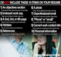 Carter Gibson - Google+ - Ten Things to NOT Include on your Resume Sharing might help…