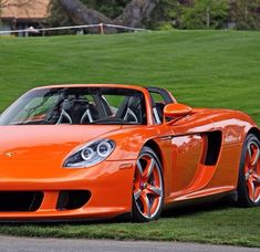 Orange Porsche Carrera GT