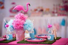 Pink Flamingo themed birthday party Full of Lots of Cute Ideas via Kara's Party Ideas! full of decorating ideas, cakes, recipes, favors, printables, and more! KarasPartyIdeas.com #pinkflamingo #flamingo #flamingoparty #pinkandgirly #partyideas #partydecor #partystyling #eventstyling #eventplanner (11) Kız bebek- kız çocuklarına özel hayalsi- masalsı partiler- Dogum gunu partisi-  birthday party- piknik- supriz-kutlama- yas gunu- dis bugdayi- new age- baby shower- konsept parti-concept…