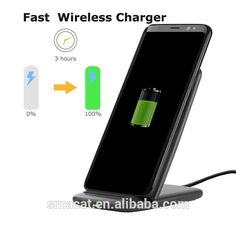 Original Quick Charge 2.0 Wireless Charger Fast Charging QI Wireless Stand for samsung galaxy Note S8 Edge All mobile phone