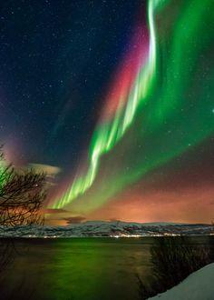 Aurora over Kitdalen, Norway by Wayne Pinkston on 500px