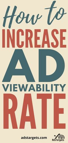 This blog has awesome tips on how to boost ad viewability rate! #onlineadvertising Email Marketing, Content Marketing, Social Media Marketing, Digital Marketing, Advertising Industry, Online Advertising, Web Development, Ecommerce, Online Business