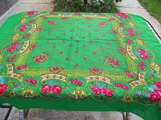 Extremely beautiful Floral Soviet shawl vintage Ukrainian
