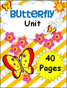 Butterfly Unit from Fun Classroom Creations on TeachersNotebook.com (40 pages)  - Kindergarten Butterfly Unit with math and literacy activities.