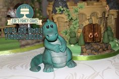 Looking for birthday cake decorating tutorials? Learn how to make childrens birthday cakes for beginners from Disney Pr. Fondant Flower Cake, Fondant Bow, Fondant Cakes, Fondant Recipes, The Good Dinosaur Cake, Chocolate Fondant, Modeling Chocolate, Dragon Baby Shower, Fondant Letters