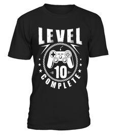 Level 10 Complete Youth Boys Gamer Birthday Boys T-Shirt