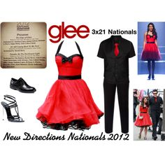 New Directions (Glee) : Nationals 2012 by aure26 on Polyvore featuring Wallis, Casadei, Vito, Tiger of Sweden, ECCO and glee