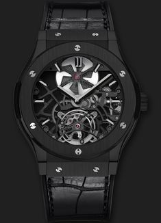 Hublot  Classic Fusion Skeleton Tourbillon All Black  @DestinationMars