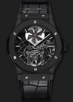 Hublot Classic Fusion Skeleton Tourbillon All Black 45mm