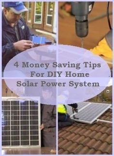 4 Money Saving Tips For DIY Home Solar Power System #DIYHomeEnergySavingMoney