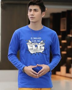 League of Legends EDward Gaming tshirt for mens long sleeve tee-