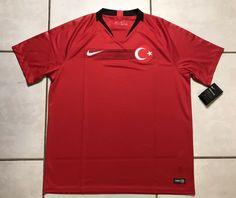 5a803d008e0 Details about NWT NIKE Turkey National Team 2018 Soccer Jersey Men's XL