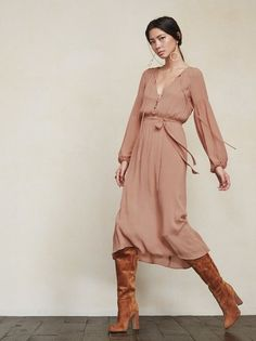This is part of the Reformation x Jeanne Damas collection. The Callado Dress is just a pretty lady you can throw on day or night, whatever the occasion. https://www.thereformation.com/products/callado-dress-buff?utm_source=pinterest&utm_medium=organic&utm_campaign=PinterestOwnedPins