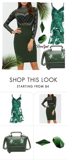"""Print dress"" by kiveric-damira ❤ liked on Polyvore"