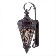 """Alita Outdoor Wall Lantern in Distressed Bronze Size: 24.75"""" H x 9"""" W by Savoy House. $338.00. 5-232-59 Size: 24.75"""" H x 9"""" W  Features: -Outdoor wall lantern. -Alita collection. -Distressed bronze finish. -Durable trisyn construction. -Available in 24.75'' and 32.75'' height sizes. -Tuscan glass. -Karyl Pierce Paxton design featuring a tapered hexagon with a detailed, decorative grid. Specifications: -24.75'' Lantern accommodates (1) 100W E bulb type. -32.75''..."""